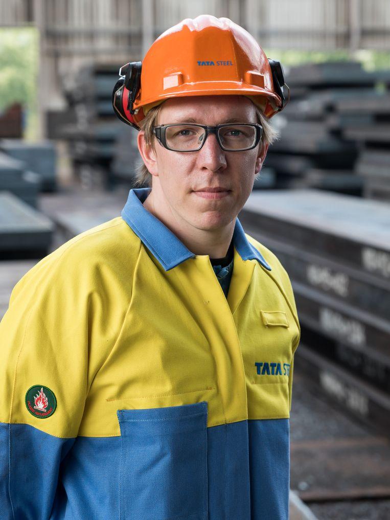 Tata-werknemer Wesley Posthumus. Beeld Maarten Boswijk