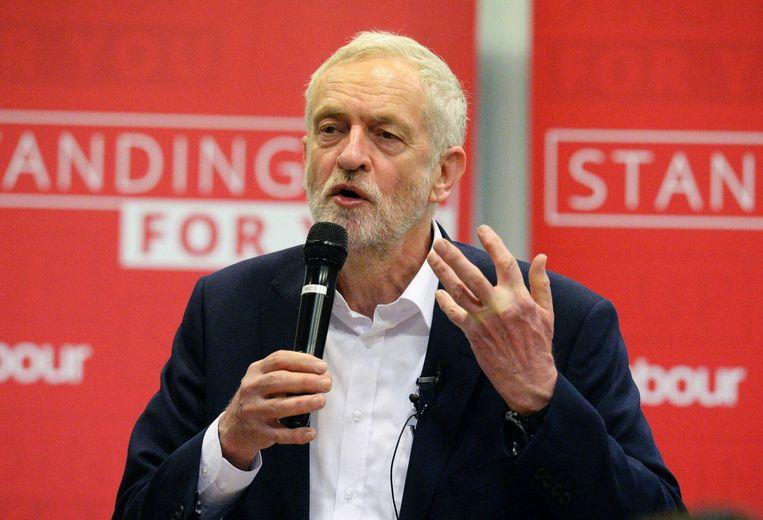 Jeremy Corbyn, leider van de Labour Party Beeld null