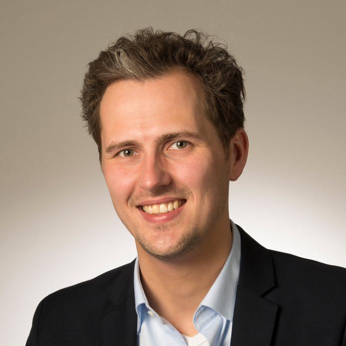 Mark Coenders, de fractieleider van GroenLinks in de Arnhemse gemeenteraad.