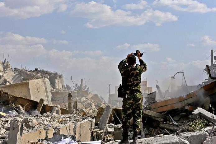 De ravage na eerdere beschietingen in Syrië deze week.