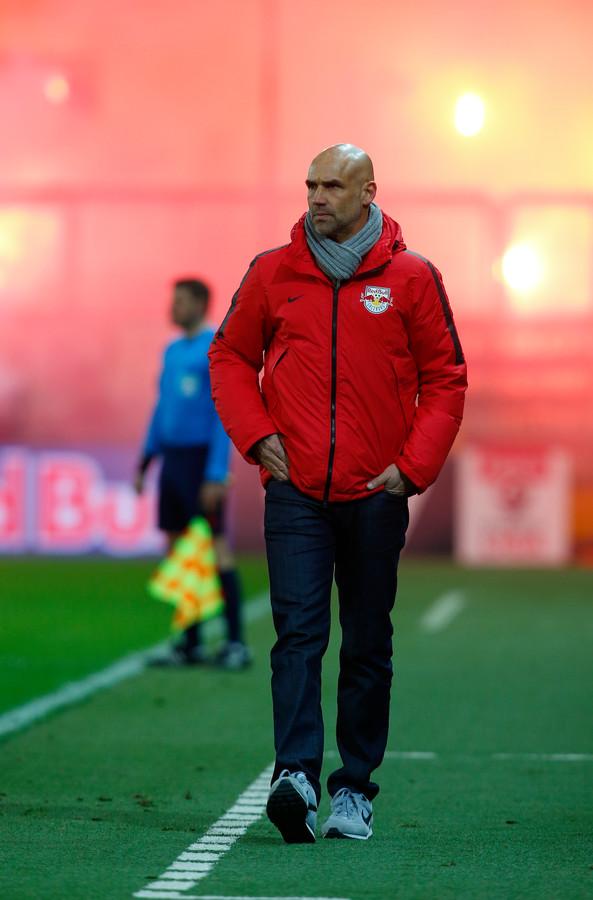 Thomas Letsch als trainer van Red Bull Salzburg.