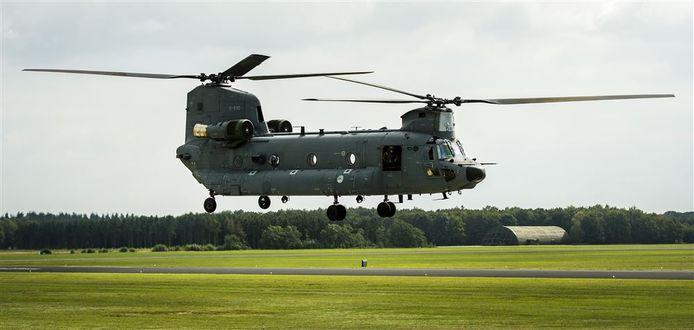Een Chinook helikopter.