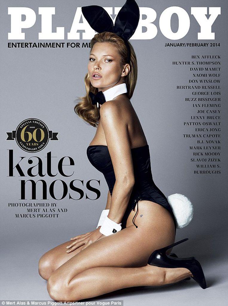 Kate Moss op de cover van Playboy