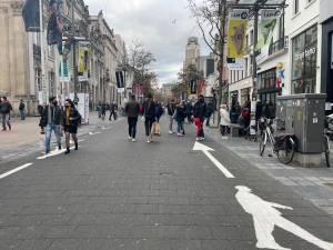 """Nog geen Brusselse taferelen op Meir in Antwerpen: """"Maar weekend is nog jong"""""""