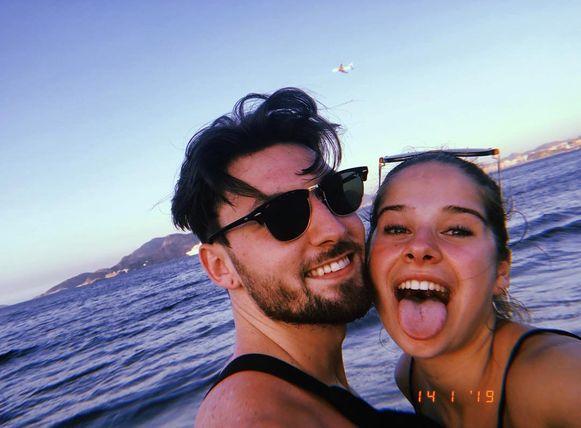Laura en haar huidige vriend Jordan.
