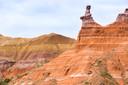 Vanuit de kloof Palo Duro wandel je in anderhalf uur naar the lighthouse, de vuurtoren.