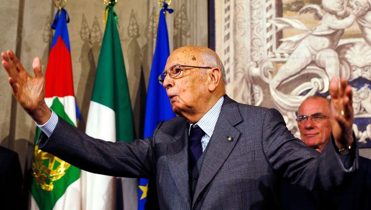 De Italiaanse president Giorgio Napolitano. Beeld REUTERS
