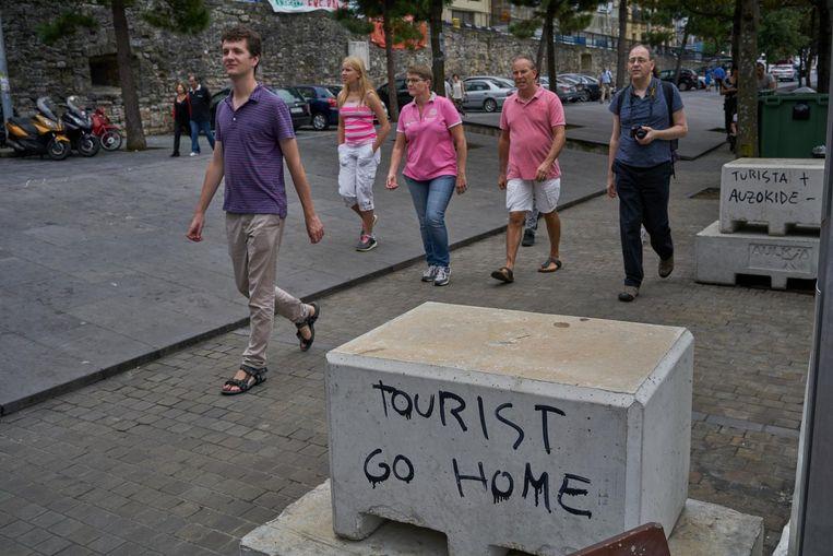 Jongerenbeweging Ernai is niet tegen al het toerisme, maar vreest wel de disneyficatie van de stad. Beeld Samuel Aranda