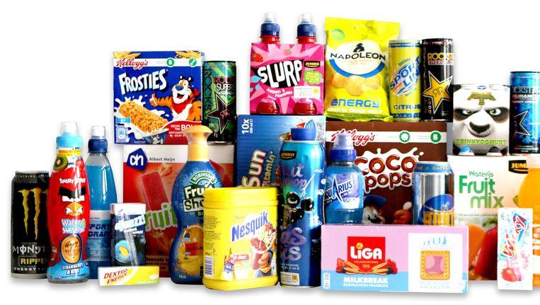 Enkele producten met vitamineclaim Beeld Foodwatch