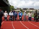 Rollatorloop bij atletiekvereniging Achilles in Etten-Leur om ouderen in beweging te krijgen. Genomineerd in de categorie Algemeen nieuws. Foto: Netty van Iersel