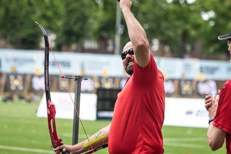 Ruben Vanhollebeke pakt goud op het WK boogschieten voor blinden.