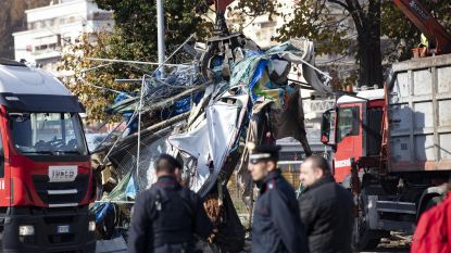 Politie ontruimt migrantenkamp in Rome