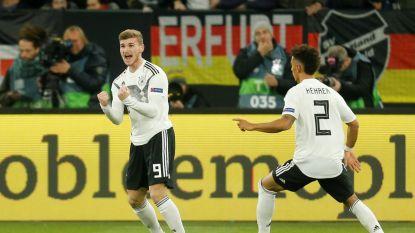LIVE. GOAL! Werner schiet Duitsers op voorsprong na counter uit het boekje!