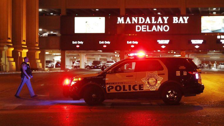 Politie in de straten van Las Vegas Beeld anp