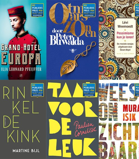 Deze boeken zijn genomineerd voor de NS Publieksprijs 2019