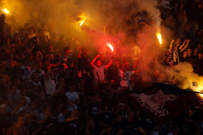Fans van Partizan.
