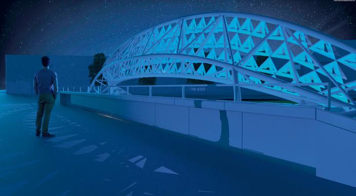 Lichtkunstwerk Zwerm: Montgomerylaan ongelijkvloerse kruising Eindhoven