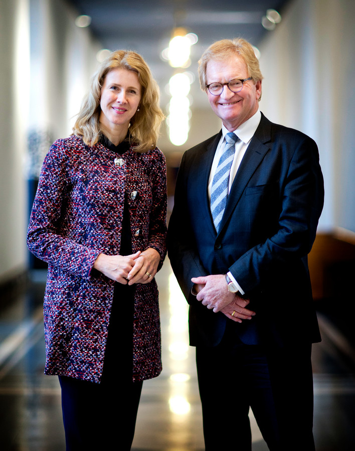 Portretten Mona Keijzer (CDA, staatssecretaris Economische Zaken en Klimaat) en Hans de Boer (voorzitter VNO-NCW).