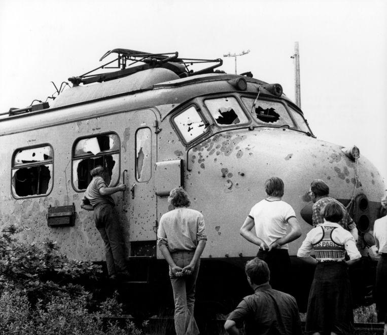 De treinkaping bij De Punt.  Beeld ANP