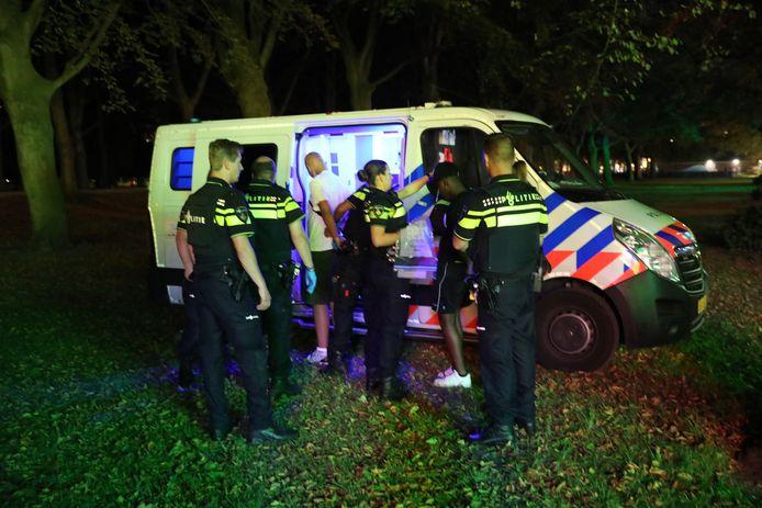 De politie hield in totaal zes verdachten aan op de kermis.