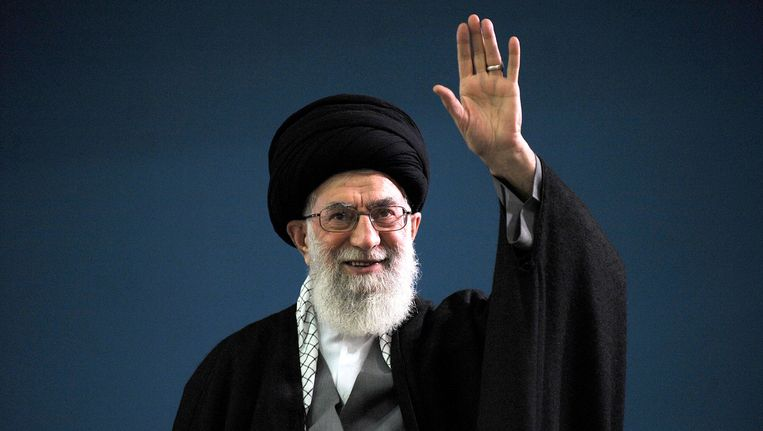 De hoogste Iraanse leider, ayatollah Ali Khamenei. Beeld AFP