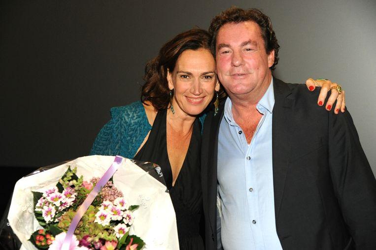 Actrice Monique Hendrickx & Leo Hannewijk. Beeld Lex de Meester
