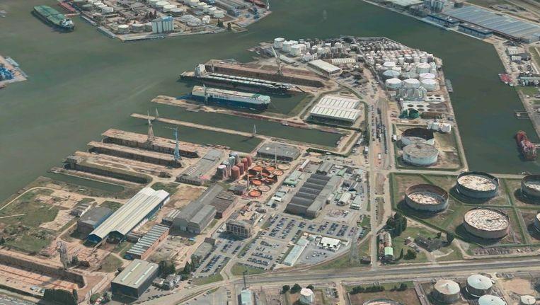 De Antwerpse haven in 3D.