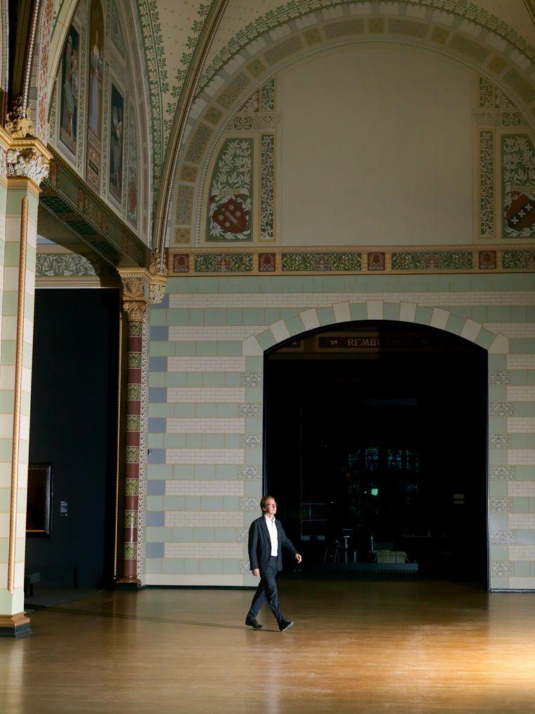 Het deed pijn toen het Rijksmuseum de deuren moest sluiten. 'De kunst blijft alleen achter, terwijl die is gemaakt om gezien te worden.' Beeld Eva Roefs