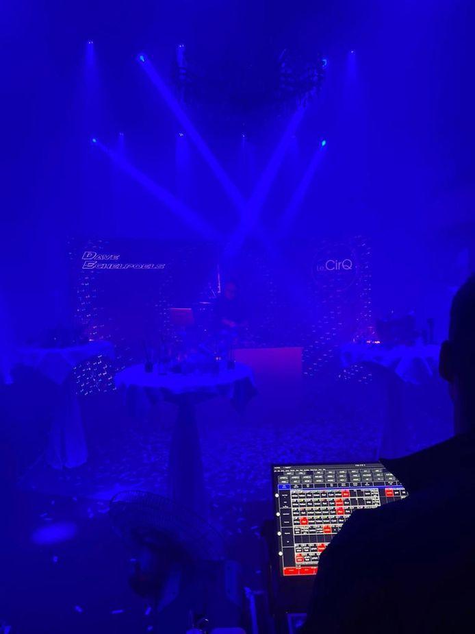 Enkele sfeerbeelden van de opnames voor de  livestream New Years Eve - The Bubble Editon.