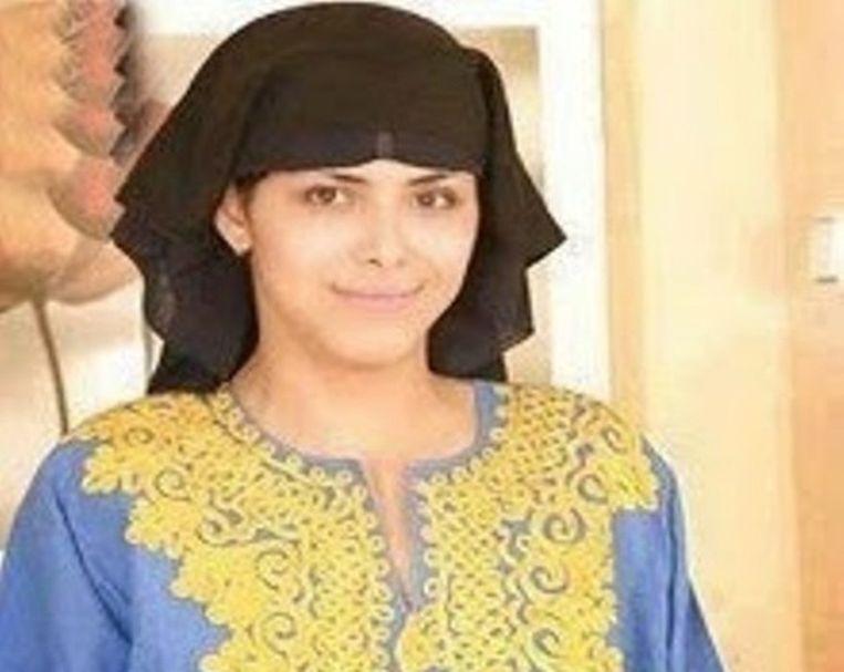 Aïsha zoals ze werd afgebeeld in diverse Iraanse media. Beeld BultanNews