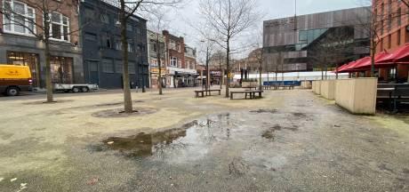 Italiaanse natuursteen op een Frans pleintje in Eindhoven, het is vragen om problemen