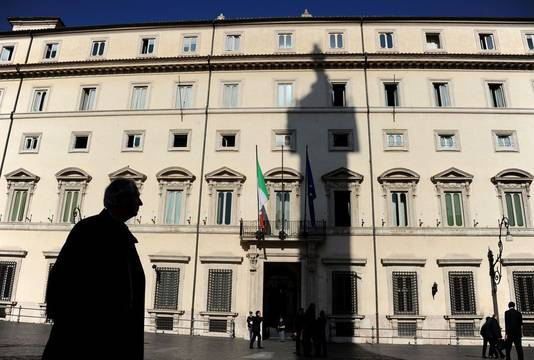 Le Palais Chigi, siège de la présidence du Conseil des ministres italien