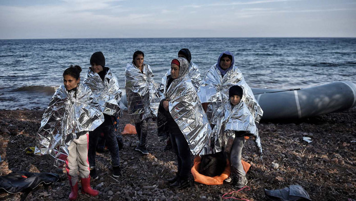 Vluchtelingen op het eiland Lesbos
