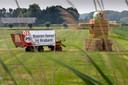 Boerenprotest tegen het mestbeleid van de provincie.