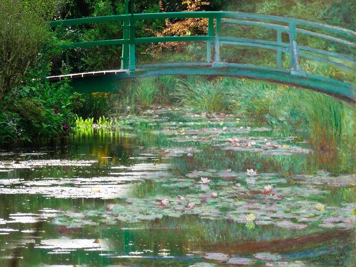 De Japanse brug van Monet uit 1988. Beeldbewerking ADR.