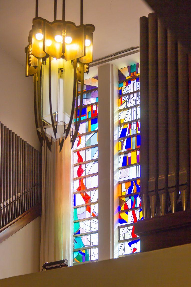 Tijdens de rondleidingen van Museum Het Schip is soms ook het interieur van de Jeruzalemkerk te bezichtigen. Beeld Sander Groen