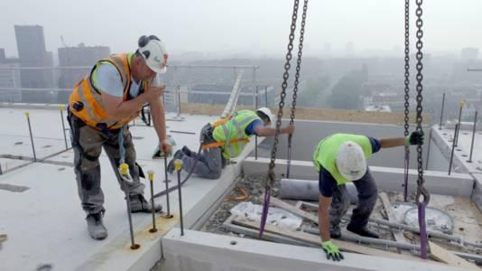 Het bouwproject van Cobana in Rotterdam is twee jaar lang gevolgd door een camera.
