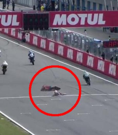 Bizarre val voor finish voorkomt stunt Bo Bendsneyder in Assen