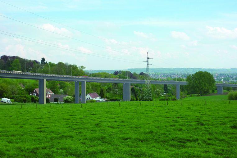 Zo moet het viaduct van de N60 er gaan uitzien.