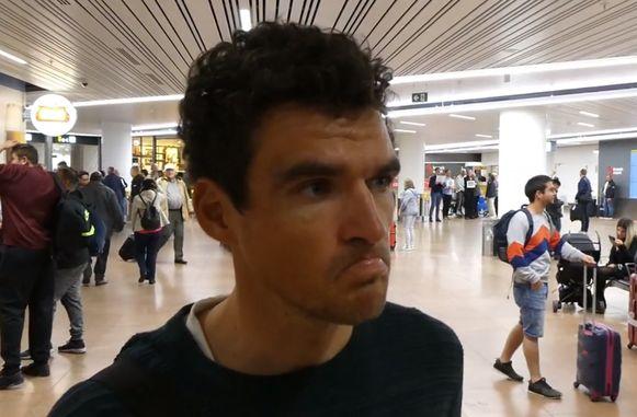 Greg Van Avermaet in de luchthaven van Zaventem