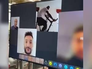 Les images insolites de l'entraînement virtuel des joueurs de Tottenham