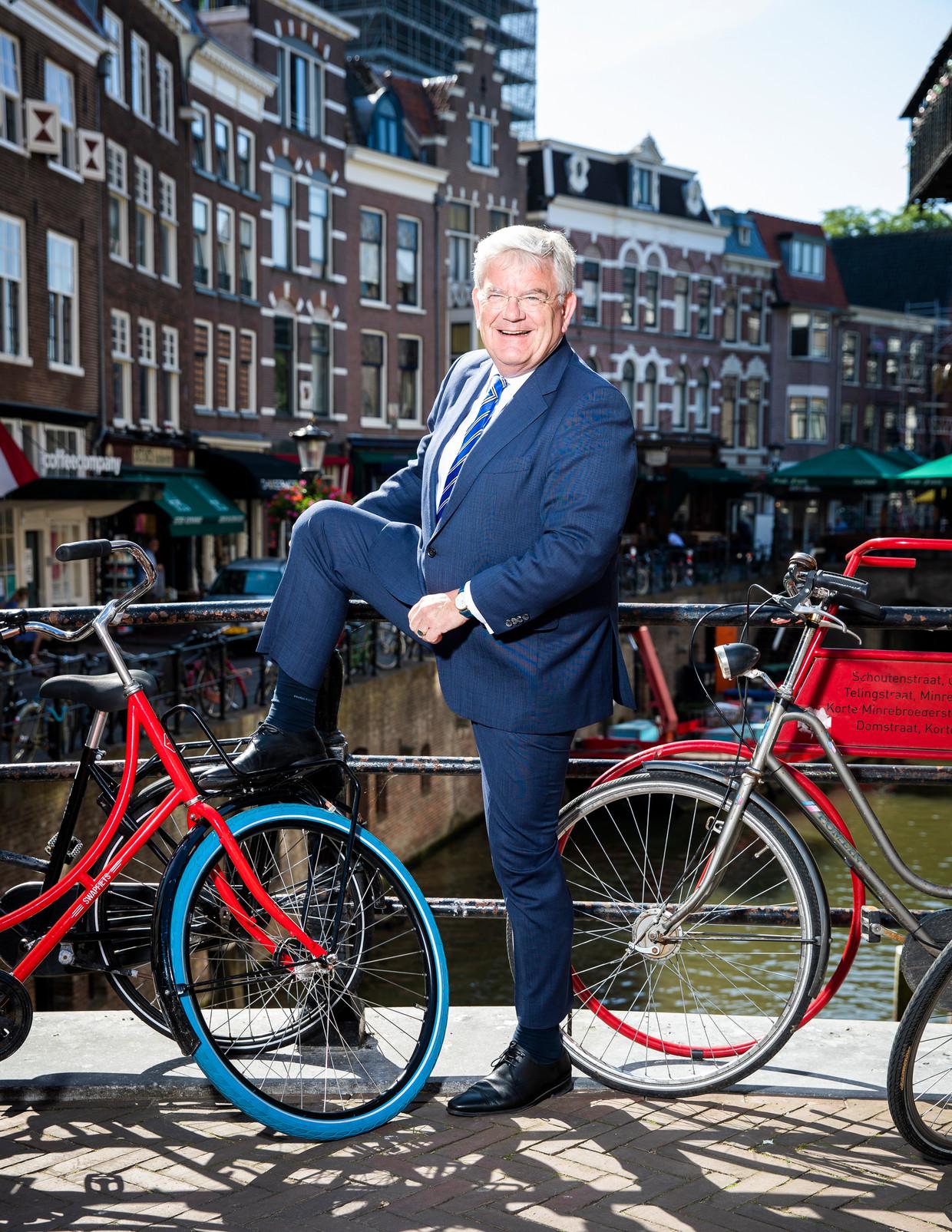Jan van Zanen, hier als burgemeester van Utrecht. Vanaf 1 juli burgemeester van Den Haag.  Beeld Jiri Büller