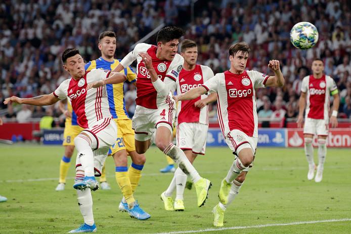 Ajax kan in de zestiende finales van de Europa League opnieuw APOEL Nicosia treffen. Afgelopen zomer versloeg Ajax de club uit Cyprus in de play-offs voor een plek in de Champions League.