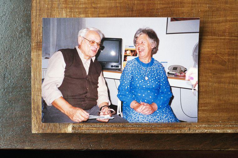 Jules Schelvis met zijn vrouw Jo. Beeld Daniel Cohen