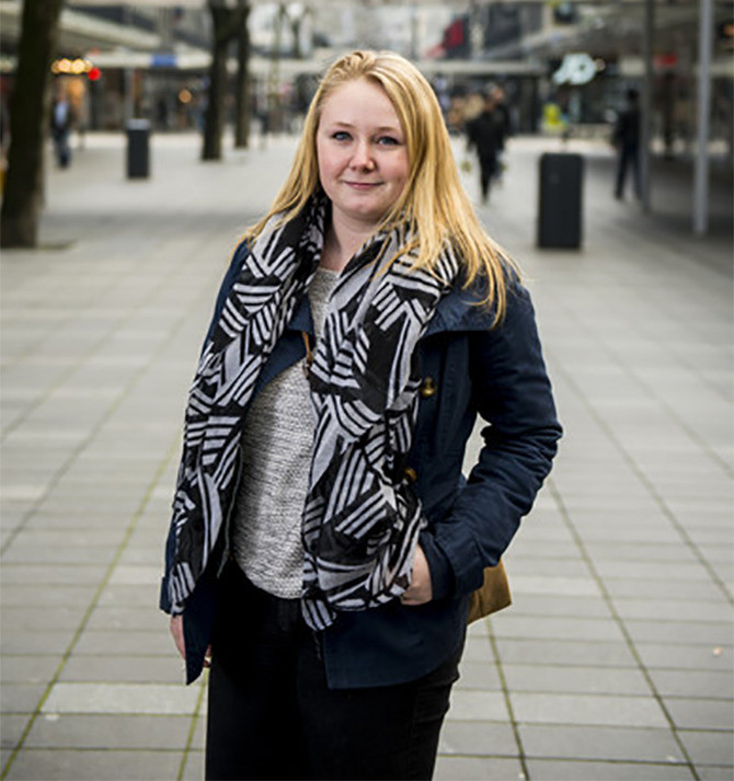Amy Mollinger (18) uit Oosterhout