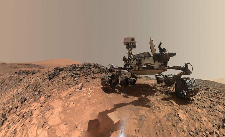 Curiosity Mars rover vehicle van NASA. Beeld AFP