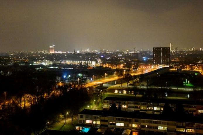 Tilburg bij nacht. Archieffoto BeeldWerkt