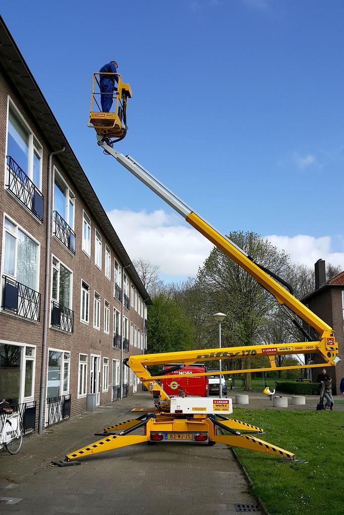 Het onderzoek werd gedaan bij de woning aan de Pieter Breughelstraat in Den Bosch.