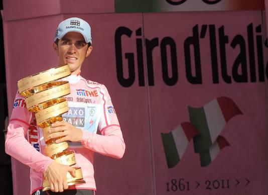 Contador won de Giro d'Italia in mei.