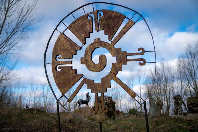 Kunstwerk op de Kunstwerkplaats in Schuytgraaf in Arnhem-Zuid.